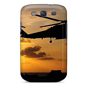 Durable Protector Case Cover With Helicopter Silhouette Hot Design For Galaxy S3 by icecream design