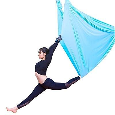Alger Aerial Yoga Haute altitude hamac Accueil Yoga Micro élastique Stretch sangle Sling Yoga Stretch band Yoga, 5 m , Lake Blue