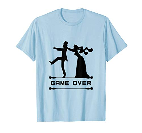 Game OVER Funny Wedding Marriage Humor Groom Men T-shirt