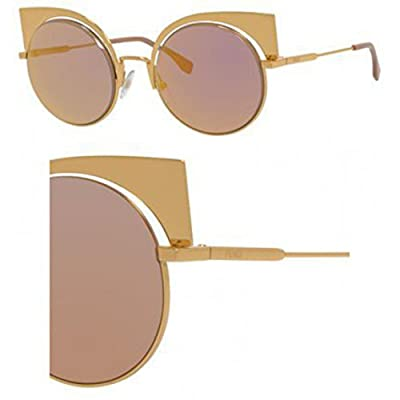 Fendi 001OJ Gold 0177/S Round Sunglasses Lens Category 2