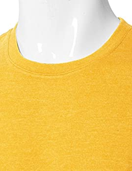 H2h Mens Basic Fashion Crew-neck T-sihrt Mustard Us Lasia Xl (Cmtts0198) 4