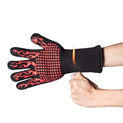 DsFiyeng BBQ Gloves Grill Gloves Oven Gloves 932°F for Cooking, Grilling, Baking- Grill & Kitchen Accessories by DsFiyeng (Image #7)'