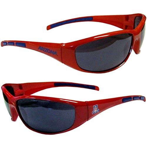 Purchadise NCAA 3-Dot Wrap Sunglasses-UVA and UVB Protection-Many Teams! (Arizona ()