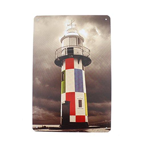 [12x8 Inches Pub,bar,home Wall Decor Souvenir Hanging Metal Tin Sign Plate Plaque (Lighthouse)] (Metal Lighthouse)