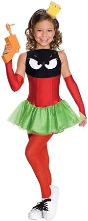 Disfraz de Marvin el Marciano para niña - 3-4 años: Amazon.es ...