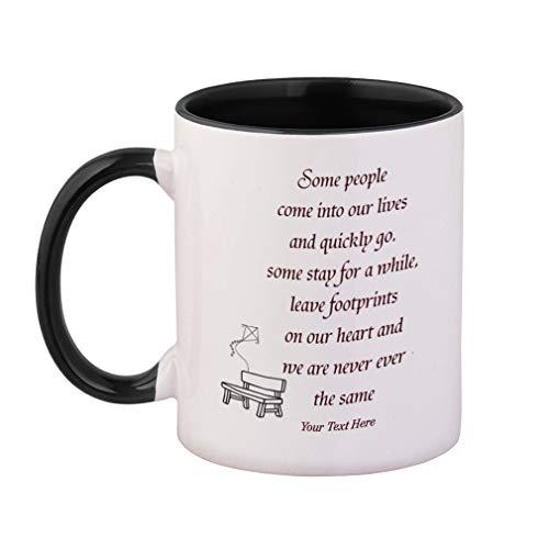 Custom Color Handle Coffee Mug Chair&Kite Memorial Some People... Ceramic Tea Cup 11 ounces Black Inner/Handle