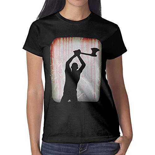 Melinda Halloween Night Crazy Axe Props Young Women Tshirt Halloween Costumes for Women -