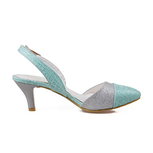 ASL04257 Synthetic Assorted BalaMasa Toe Womens Buckles M and US Pumps B Fabric Metal 10 Green Pointed 5 Shoes Color wgqgOAv4x