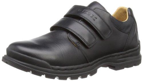 Geox William A - Zapatillas de cuero para niños, color negro (black leather)