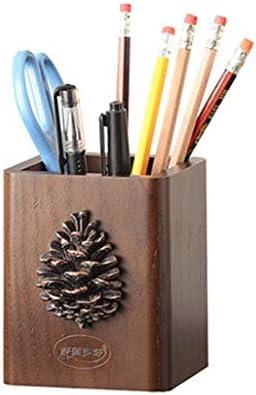 GR5AS Kreative Art und Weise netter Stifthalter Holz amerikanischen Retro-Holz im europäischen Verfassung Desktop-Aufbewahrungsbox (Color : A)