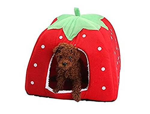 Strawberry Style Cute Soft Cotton Sponge Puppy Cat Dog House Pet Bed Dome Tent Warm Cushion Basket  sc 1 st  Catu0027s Store | catsstore.net & Style Cute Soft Cotton Sponge Puppy Cat Dog House Pet Bed Dome ...