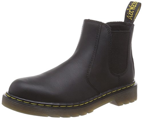 Dr. Martens Boys Kids Banzai Black Softy T Leather Chelsea Ankle Boots Size 1 -