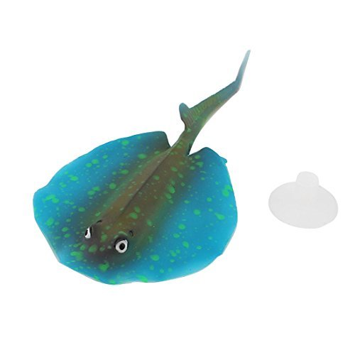 Amazon.com: eDealMax Stingray TPR goma acuario Artificial ornamento ...