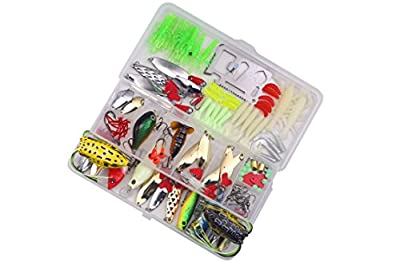 Bluenet Fishing Lure Set Kit Lots With Professional Fishing Lures Baits Tackle Set For Freshwater Trout Bass Salmon-Include Spinner Baits Topwater Frog Lures Crankbaits Lures Spoon Lures