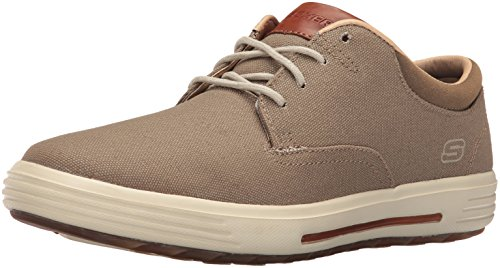 (Skechers Men's Porter Zevelo Oxford,Khaki,8 2W US)