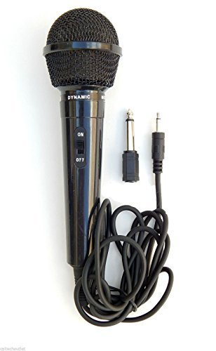 Price comparison product image Dynamic Microphone Mic W / extra Adapter Karaoke Systems & Computers 3.5mm & 6.3mm