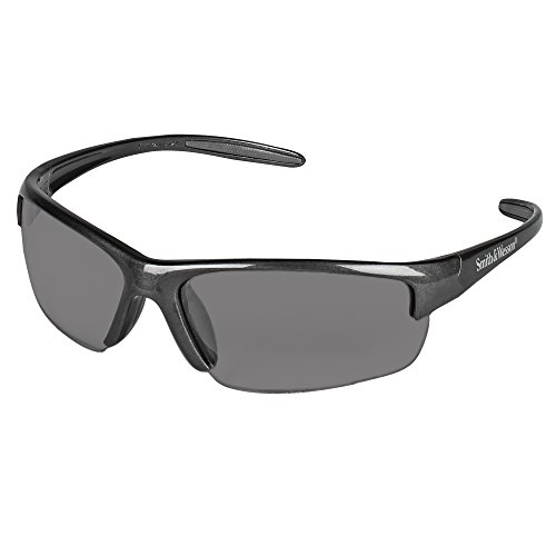 Smith and Wesson Safety Glasses (21297), Equalizer Safety Eyewear, Smoke Anti-Fog Lens, Gunmetal Frame, 12 Pairs / Case