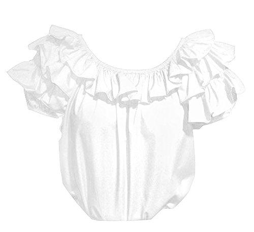 Full Ruffle Short Sleeve Blouse for Square Dance -