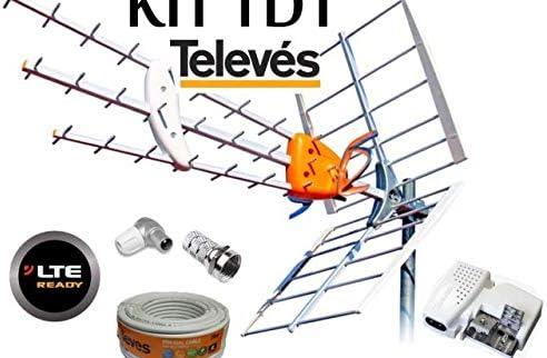 Kit Antena TELEVES HD 149902 +20MT Cable+Fuente TELEVES 5795 +Conectores DE Antena Tipo FY CEI …
