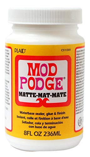 (Mod Podge Waterbase Sealer, Glue and Finish (8-Ounce), CS11301 Matte Finish)