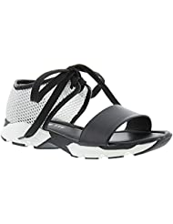 ALL BLACK Banded Mesh Womens Sandal