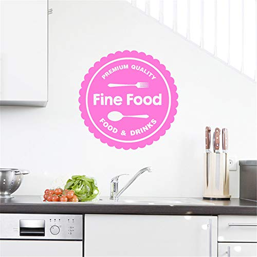 Stickers Vinyl Wall Art Decals Letters Quotes Decoration Fine Food Premium Quality Food & Drinks for Kitchen ()