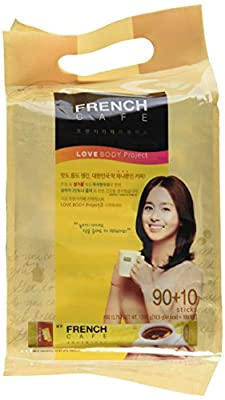 Premium French Cafe Instant Coffee Mix (100 Sticks) by Namyang