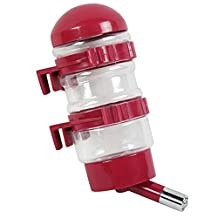 Pet Drinking Fountains Dog Water Dispenser Dog Kettle with Automatically Feeding Water (Red)
