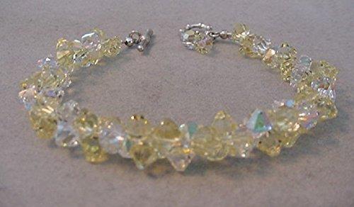 83e42aebd6625 Amazon.com: Swarovski Crystal Bracelet Yellow Jonquil and Crystal AB ...