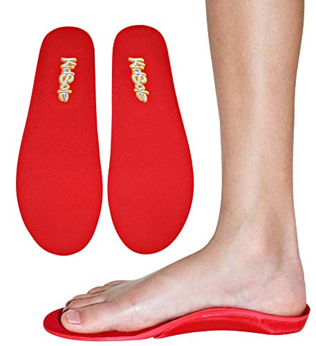 Red Orthotic Sports Insole by KidSole -- Lightweight Soft & Sturdy Orthotic Technology For Active Children With Flat Feet and Other Arch Support Problems (US Kids Sizes 4-6 (24 CM))