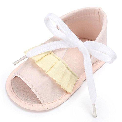 Hunpta Baby Sandals Säugling Kinder Mädchen Soft Sole Krippe Kleinkind Neugeborene Schuhe Beige