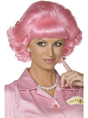 [Uwant Fashion Frenchy Pink Wig Grease 50S Ladies Womens Fancy Dress Costume 1950S Wigs by Uwant Fashion] (Frenchy Pink Ladies Costume)