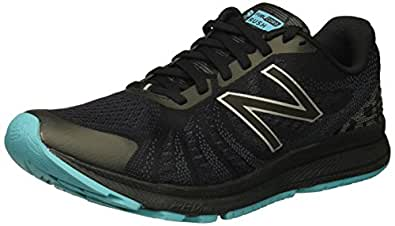 New Balance Women's FuelCore Rushv3 Running-Shoes, Black/Pisces, 10 B US