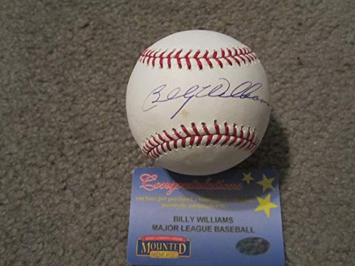 - Billy Williams Autographed Signature Baseball Mounted Memories MLB Authentication Cubs