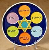 Ceramic bisque unpainted Passover seder plate 8'' case of 12