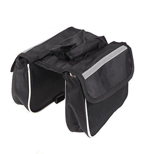 rycnet Cycling Bike Bicycle Front Top Tube Frame Double Bag Pouch Phone...