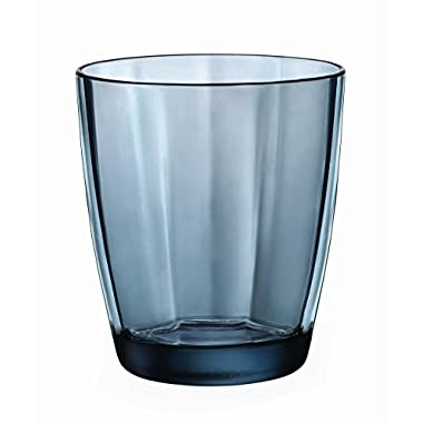 Bormioli Rocco Pulsar Double Old Fashioned Glasses, Ocean Blue, Set of 6