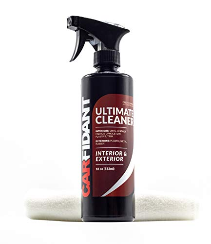 Interior Upholstery Kit - Carfidant Ultimate Car Interior Cleaner - Automotive Interior & Exterior Cleaner All Purpose Cleaner for Car Carpet Upholstery Leather Vinyl Cloth Plastic Seats Trim Engine Mats - Car Cleaning Kit