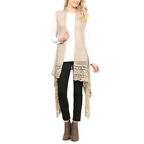 MYS Collection Crochet Pattern Vest (Beige) from MYS Collection