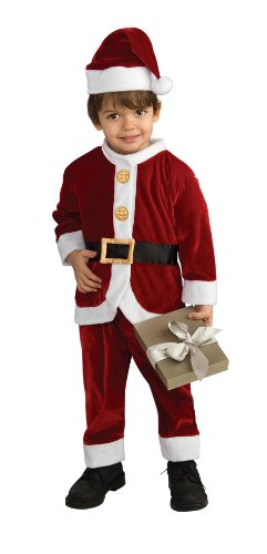 Child's Little Santa Costume, Small White