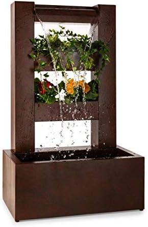 blumfeldt Lemuria Cascada de jardín con Maceta - Fuente de Jardín - Bomba de Potencia 30W, Cascada de 3 Niveles, Macetero de 2 Niveles, Estructura Metalica, Apta para Interior/Exterior.: Amazon.es: Jardín