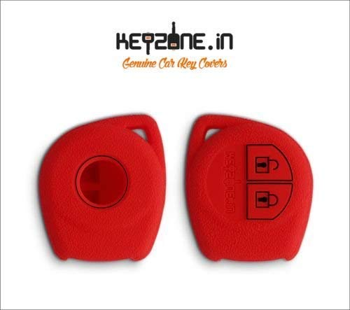 KEYZONE Silicone Key Cover for Suzuki 2b remote key (Red) product image