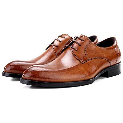 LHLWDGG.K Zapatos De Fiesta De Vestir Formal Para Hombres Zapatos De Boda Redondos/Novia De Boda Para Hombres, Negro, 7 7|Black