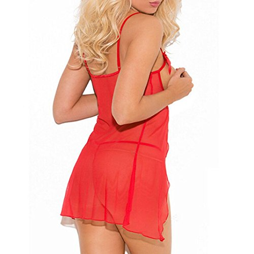 biancheria Camicia Familizo da della donne sexy sexy delle intima Fami modo Lingerie sveglia intima Capi di biancheria Donna abbigliamento di uniformi della notte di Rosso da xf8Z0rqfw