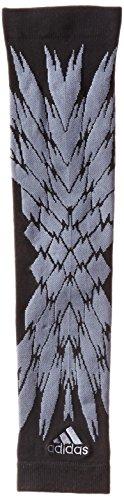 adidas Compression Shockweb Print Arm Sleeve, Black/Onix, Small/Medium