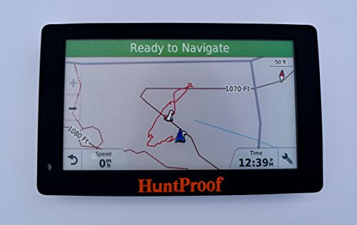 BLACK HUNTPROOF PROTECTIVE CASE WITH SCREEN PROTECTOR FOR GARMIN DRIVETRACK 70