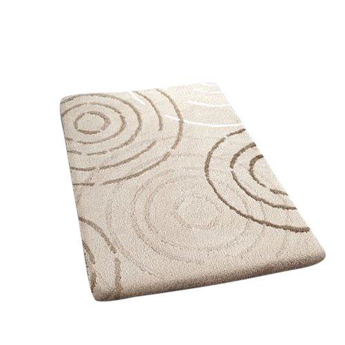 Top Kleine Wolke Luxury Contemporary Splash Bath Rug (19.7 x 23.6in, Silk) free shipping