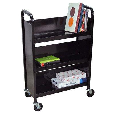Luxor Truck Book (LUXOR BT3S27-B Book Truck, 3 Single Side Shelves, 27