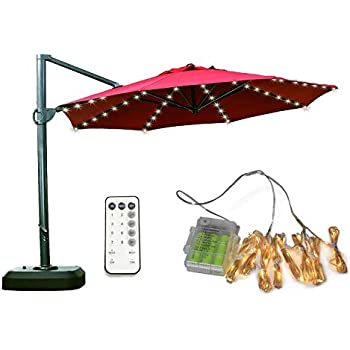 Amazon Com Patio Umbrella Lights Koffmon 8 Lighting Mode