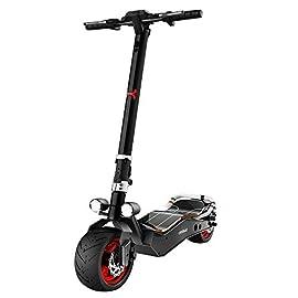 Cecotec Trottinette électrique Bongo Serie Z Red, Puissance Max de 1100 W, Batterie Amovible, autonomie jusqu'à 40 km, Traction arrière, Pneus Anti-crevaisons 12″
